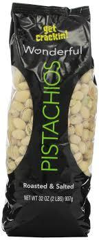 Wonderful Pistachios Roasted Lightly Salted 16 Oz Amazon Com Wonderful Pistachios Roasted And Salted 32 Oz