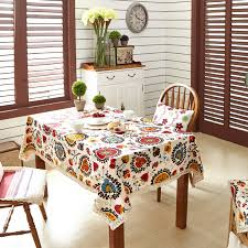 rectangle tablecloth on round table colorful leaves printed dining table cloth rectangular tablecloth