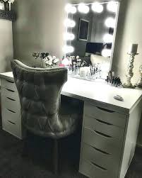 makeup vanity with mirror and chair vanities silver vanity chair best makeup lighting ideas on