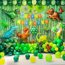 Birthday Party Backdrop Decorations Dinosaur Balloon Them... https://ww… |  Dinosaur birthday party decorations, Dinosaur themed birthday party,  Dinosaur theme party