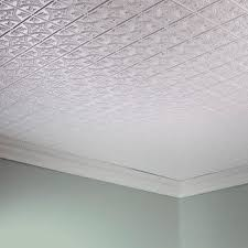 Perfect Fasade Traditional Style #1 Matte White 2 Foot X 4 Foot Glue