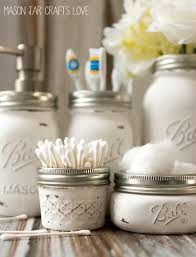 Ways To Decorate Glass Jars Mason Jar Bathroom Storage Accessories Mason Jar Crafts Love 35
