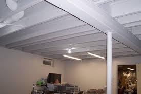 Beautiful Painted Basement Ceiling Ideas T Inside Decor
