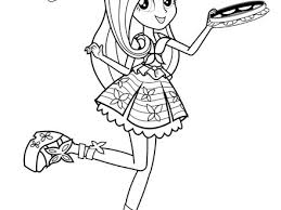 My Little Pony Coloring Pages Rainbow Dash Equestria Girls Coloring