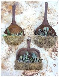 garden art ideas from junk old rusty dust pans as garden art garden art ideas from garden art ideas from junk