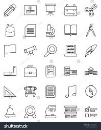 Thin Line Vector Icon Set Book Stock Vector Royalty Free