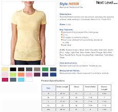 Next Level Shirt Color Chart Rldm