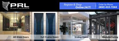 all aluminum sliding doors are extruded and manufactured in house which give prl an advantage home glass