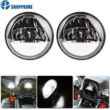 Dot Approved Motorcycle Lights Us 63 54 Dot Approved 2 Pcs Chrome 4 5 Inch Led Passing Light Led Fog Lamps For Motorcycle Auxiliary Light Bulb On Aliexpress 11 11_double