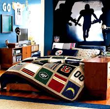 Kids Sports Bedroom Decor Bedroom Boys Bedroom Awesome Modern Boys Room With Cozy Grey Bed