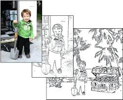 Small Picture Turn Photo Into Coloring Page Corresponsablesco