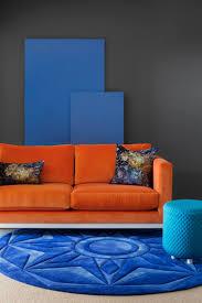 Colorful Living Room Furniture Best 20 Orange Sofa Ideas On Pinterest Orange Sofa Design