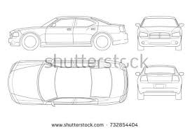 car outline front. Simple Car Sedan Car In Outline Business Sedan Vehicle Template Vector Isolated On  White View Front For Car Outline Front