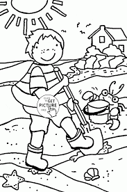 Small Picture Kid on the Beach coloring page for kids summer coloring pages