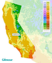 California Planting Zones Growing Zone Map Gilmour