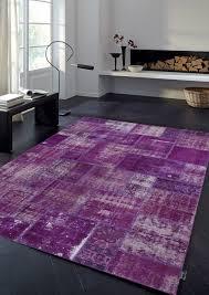vintage patchwork overdyed purple wool rug 19033