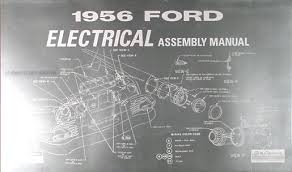 1956 ford car thunderbird wiring diagram manual reprint 1956 ford car electrical assembly manual reprint