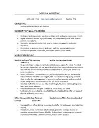 good resume objectives for medical assistant sample resume objectives for medical assistant