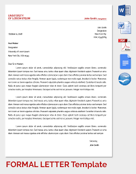 Formal Letter Format 20 Formal Letter Templates Word Pdf Apple Pages Free