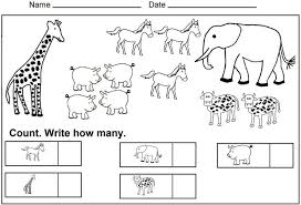 Math Counting Worksheets For Kindergarten Maths Count And Write 1 ...