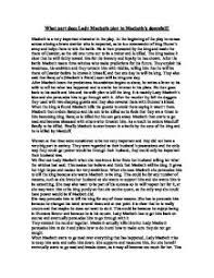 what part does lady macbeth play in macbeth s downfall gcse  page 1 zoom in
