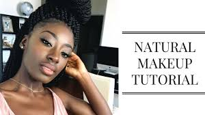 how to look natural with makeup dark skin everyday makeup routine lisa aidoo you