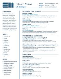 Resume Ed Mikos User Experience Design Ux