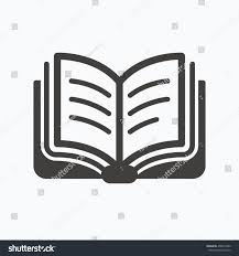 book icon study literature sign education stock vector  study literature sign education textbook symbol gray flat web icon on