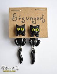cat themed presents.  Presents Black Cat Earrings Siguniak  Throughout Cat Themed Presents