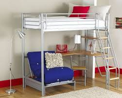 Loft Bedroom For Adults Full Size Metal Loft Bed With Slide Furniture Artfultherapynet