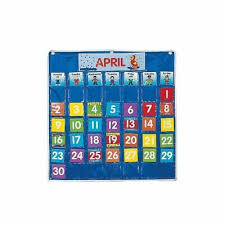 Fabric Days Of The Week Chart Nylon Classroom Calendar Pocket Chart By Fun Express Ebay