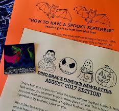 dino drac s funpack ease into halloween dinosaur dracula rounding things out is this month s dino drac funpack newsletter plus this month s exclusive dino drac sticker and this month s exclusive dino drac essay