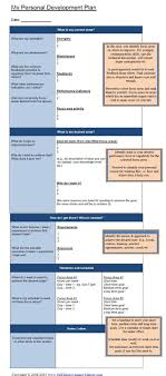 personal development plan essay