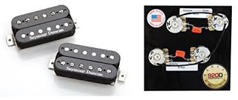 duncan hot rodded humbucker pickup set, black plus free les paul 1958 Les Paul Wiring Diagram this listing is for a brand new set of seymour duncan hot rodded humbucker set in black also included at no extra charge is a 920d custom shop pre wired 1959 les paul wiring diagram