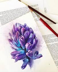 оригинальный универсальный эскиз тату цветы 250