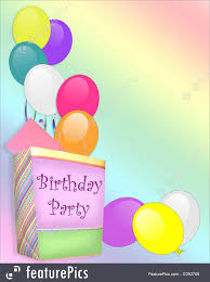 Birthday Party Invitation Templates Birthday Party Invitation Background Stock Illustration