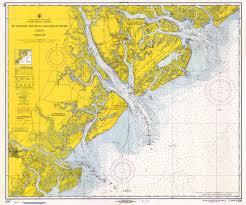Historical Nautical Chart 1240 11 1967 St Helena Sound To Savannah River