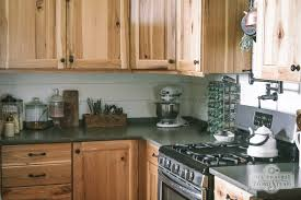 Wood Stove Backsplash Mesmerizing DIY Shiplap Kitchen Backsplash The Prairie Homestead