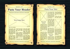 Newspaper Template For Google Docs Editable Newspaper Portrait Powerpoint Template Old Newspaper