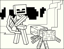 Small Picture Minecraft Coloring Pages