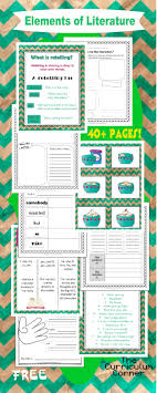 Literary Elements Anchor Chart Elements Of Literature Unit Of Study The Curriculum Corner 123