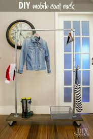 Mobile Coat Racks Enchanting DIY Freestanding Mobile Pipe Coat Rack Lowe's Creators Pinterest