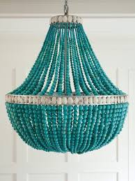 turquoise chandelier lighting. Turquoise Beaded Chandelier | Amanda Nisbet Lighting