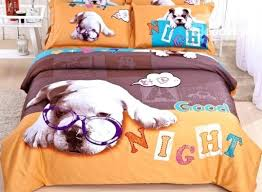 medium image for boxer dog single duvet cover good night doctor dog print 4 piece cotton