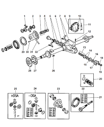 Axle rear with differential parts for 1997 dodge ram 2500