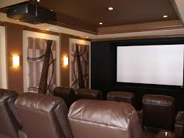 brown contemporary home theater