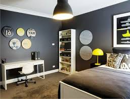 bedroom paint ideas brown and red. Boys Bedroom Paint Ideas Stripes Red Glass Laminate Floating Black Wood Shelf Random Yellow Line Brown And
