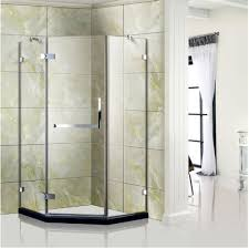 free standing tempered glass shower door shower enclosure with 5 16 thick
