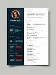 Fine Design Free Creative Resume Templates Resume Cv Template Free