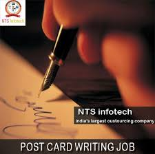 best writing jobs images writing jobs from home post card writing job please us ntsinfotech com